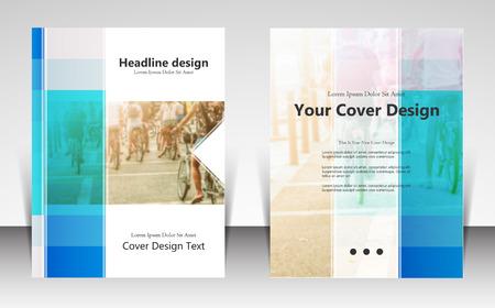 illustration pour la conception de modèle site de mise en page, la brochure de l'entreprise, la présentation de la couverture dépliant, brochure, rapport, bulletin d'information d'entreprise et annonce, le marketing et le concept de la publicité en ligne