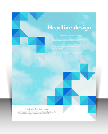 ad: illustration for website page layout template design, business brochure, leaflet cover presentation, booklet, report, corporate newsletter and ad, marketing and online advertising concept Illustration