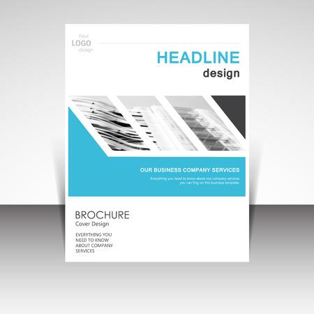 magazine cover: Business annual report brochure design vector illustration. Business presentation, poster, cover, booklet, banner, leaflet, flyer, newsletter, magazine, publication, landing page layout template