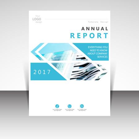 Business annual report brochure design vector illustration. Business presentation, poster, cover, booklet, banner, leaflet, flyer, newsletter, magazine, publication, landing page layout template