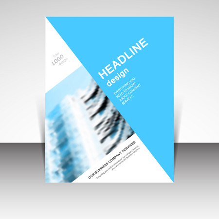 advertisements: Business annual report brochure design illustration. Business presentation, poster, cover, booklet, banner, leaflet, newsletter, magazine, publication, landing page layout template