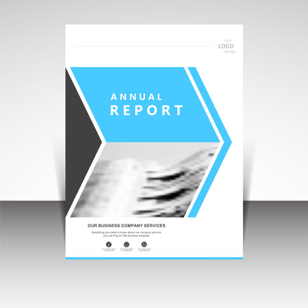 brochure cover design: Business annual report brochure design illustration. Business presentation, poster, cover, booklet, banner, leaflet, newsletter, magazine, publication, landing page layout template