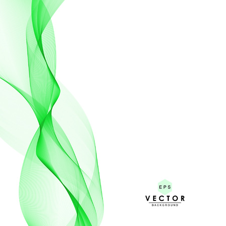 Abstract waves vector background, green transparent waved lines for website, brochure, flyer, banner, newsletter, magazine, booklet, leaflet, card design. Green smoke wave abstract. Wavy background