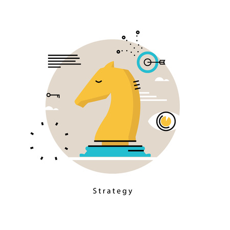 Strategic planning and business strategy flat vector illustration design. Success in business, leadership, business management design for mobile and web graphics Illustration