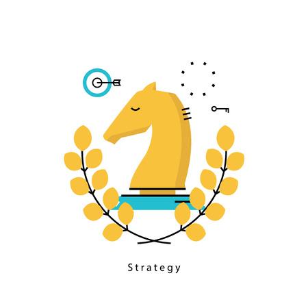 ビジネス、戦略的計画、ビジネス戦略フラット ベクトル イラスト デザインのリーダーシップ。ビジネス、モバイルのためのリーダーシップ デザイ