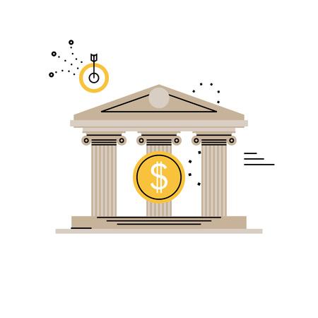 Banken und Finanzdienstleistungen, Budgetplanung, Finanzinvestitionen, Business und Finanzen flache Vektor-Illustration Design für mobile und Web-Grafiken Standard-Bild - 79928363