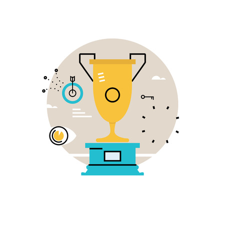 Champion of competition, reward, goblet winner, winner cup, business success, leadership concept  flat vector illustration design for mobile and web graphics Illustration