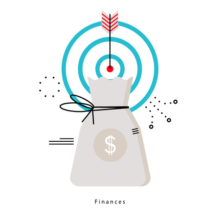 금융 계획, 예산 계획, 금융, 금융 투자, 비즈니스 및 재무 플랫 벡터 일러스트 디자인 모바일 및 웹 그래픽 일러스트