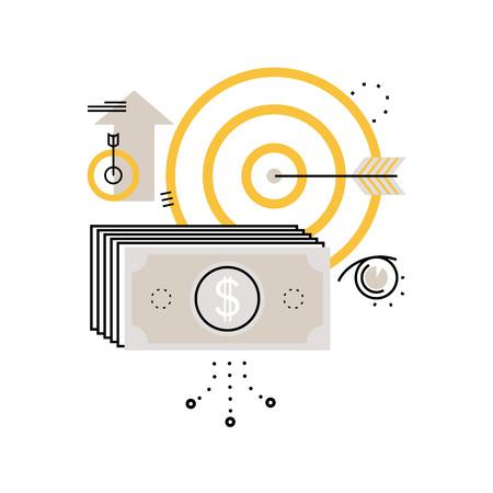 Planificación financiera, planificación presupuestaria, banca, inversiones financieras, negocios y finanzas ilustración vectorial plano ilustración para móviles y gráficos web Ilustración de vector