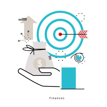 재무 계획, 예산 계획, 금융, 금융 투자, 비즈니스 및 재무 플랫 벡터 일러스트 디자인 모바일 및 웹 그래픽