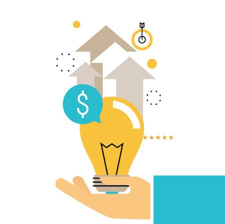 Financieel advies, financiële begeleiding, bedrijfsadviseur, investeringsbijstand, vectorontwerp van geldbeheer voor mobiele en webafbeeldingen