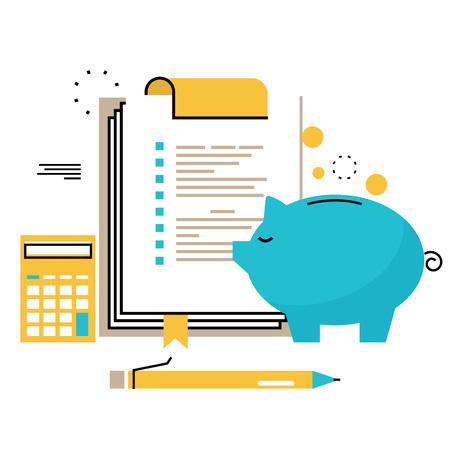 Doradztwo finansowe, doradztwo finansowe, doradca biznesowy, pomoc inwestycyjna, księgowość płaska linia wektor ilustracja do grafiki mobilnej i internetowej