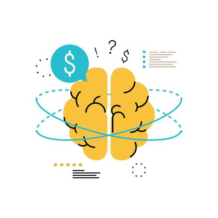Financial consulting, finance guidance, business adviser, investment assistance, money management vector illustration. Illustration
