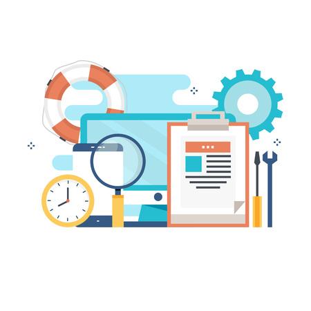 テクニカル サポート、カスタマー サポート、web バナー、ビジネス プレゼンテーション、広告素材のオンライン ヘルプの概念  イラスト・ベクター素材