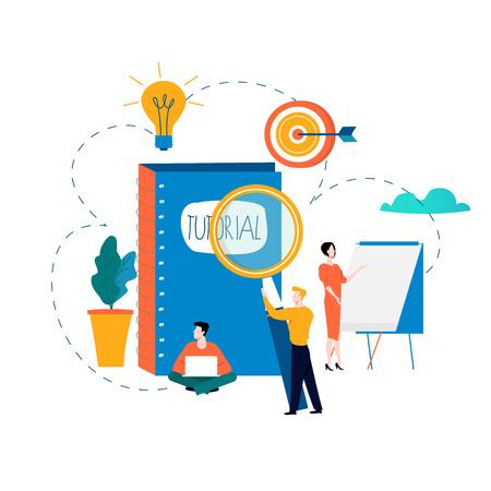 Professional training, education, tutorials, business courses, specialization vector illustration. Illustration