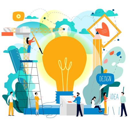Creative ideas graphic design illustration. Vectores