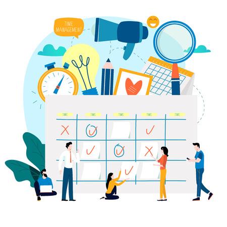 Time management flat vector illustration