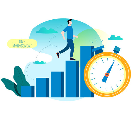 Productivity increase time management web graphics
