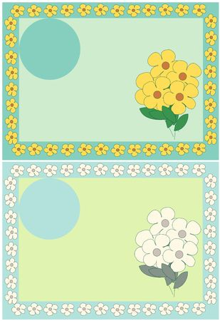 flower frame illustration illustration