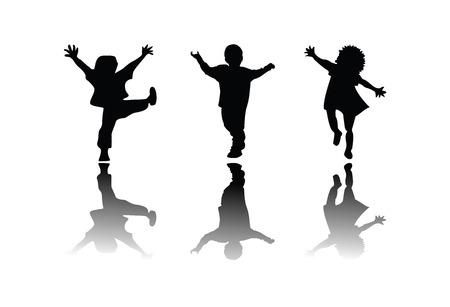 Kids silhouette, ediable vector Vector