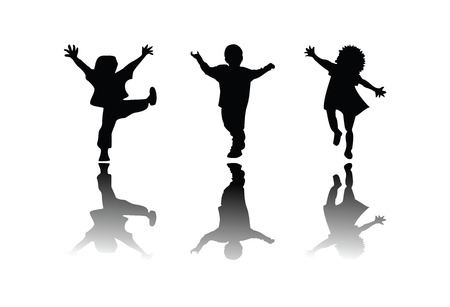 Kids silhouette, ediable vector Stock Vector - 5514155