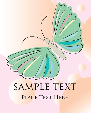 Abstract butterfly card Stock Vector - 5514161