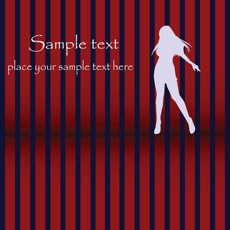 glam: Disco card, dancing silhouette, glam design