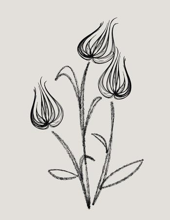 abstract tulip design vector  Vector