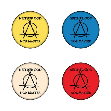 anarchy: Anarchy concept buttons on white background