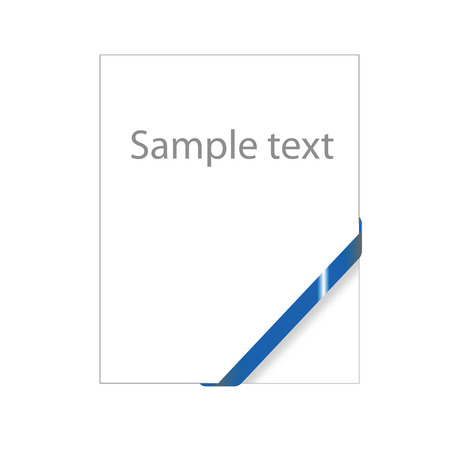 Blue empty corner ribbon, ready for your text( sale, new, mail, document, free, etc ) Stock Vector - 5514164