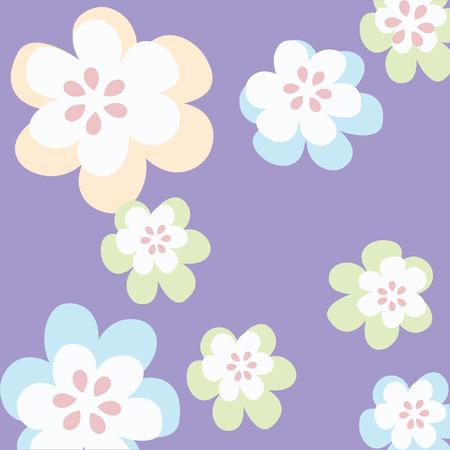 artdeco: Floral background illustration, vector image