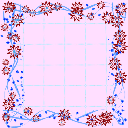 Floral tile Stock Vector - 5540189