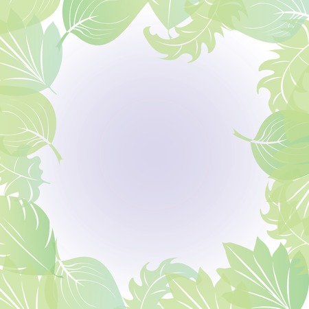 Abstract leaf border, vector illustration Vector