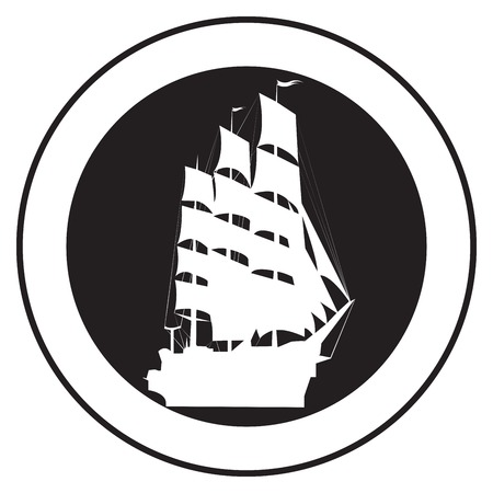 Emblem of an old ship, vector stamp Stock Vector - 5775239