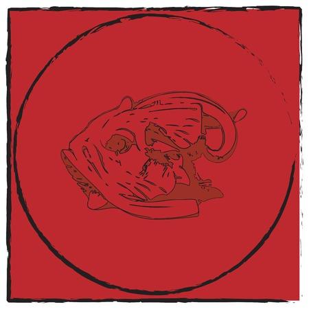 Abstract fish emblem, vector art Stock Vector - 5775242