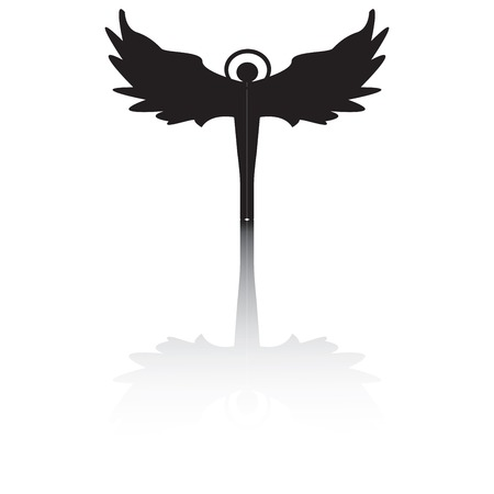 Angel silhouette with shadow Stock Vector - 5787313