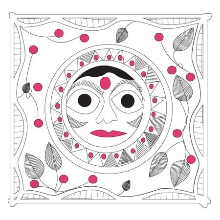 smyle: Indian sun, handrawing mandala Illustration