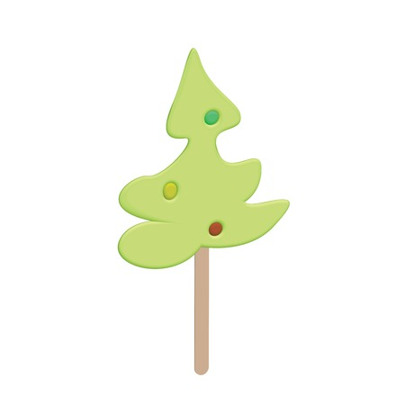co: Delicious candy on a wooden stick for Christmas and New Year, enjoy...
