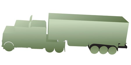 3D truck, toy silhouettes isolated on white Stock Vector - 5854917