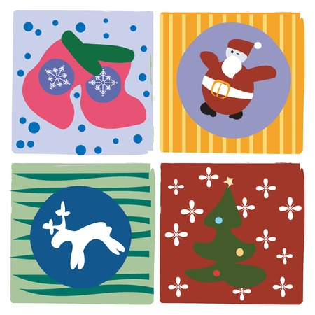 Christmas little cards for your design Stock Vector - 5855059