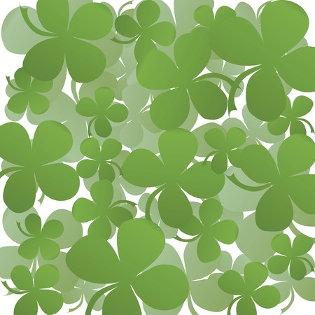 Clover background illustration, lucky card Stock Vector - 5855058