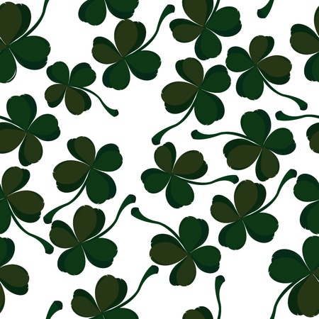 three leaves: four leaf clover pattern Illustration