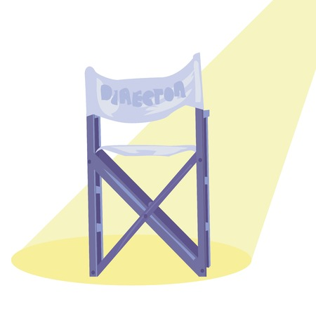 director chair: Movie director chair in the spot light