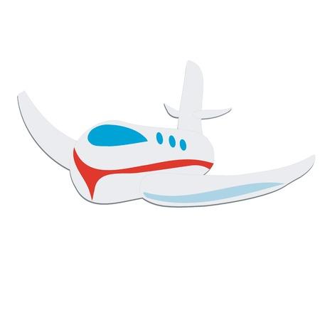avi�n juguete: Plano de juguete, aislado sobre fondo blanco Vectores