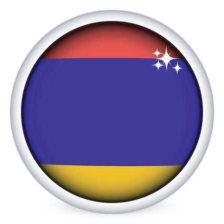 armenian: Armenian sphere flag button, isolated on white
