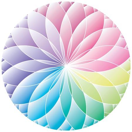 descriptive color: Gradient wheel