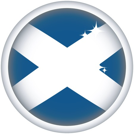 scotish: Scotish sphere flag button, isolated vector on white