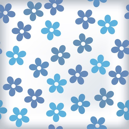 Bath tile with sealess floral motif in colors. This is a vector image - you can simply edit colors and shapes