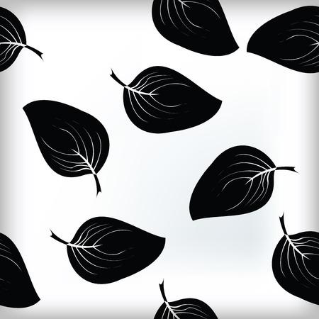copy paste: Leaves pattern tile illustration
