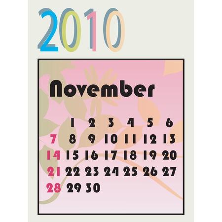 2010 vector calendar Vector